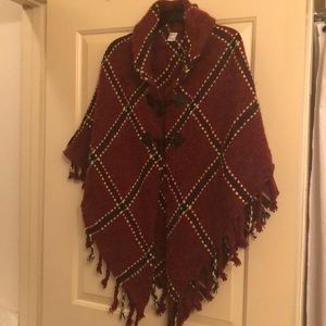 WM's Winter Poncho Winter Sweater Cardigan OZ